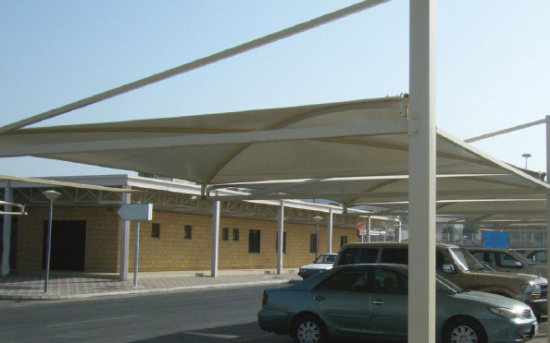 Car Parking Shades of Security Forces Center Project at Riyadh and Jeddah