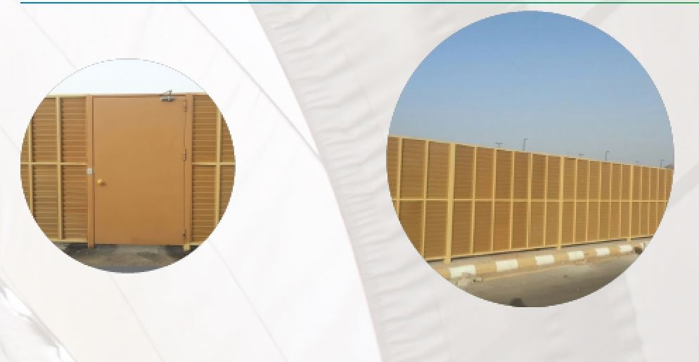 Plastic-wood fence with car barrier gates